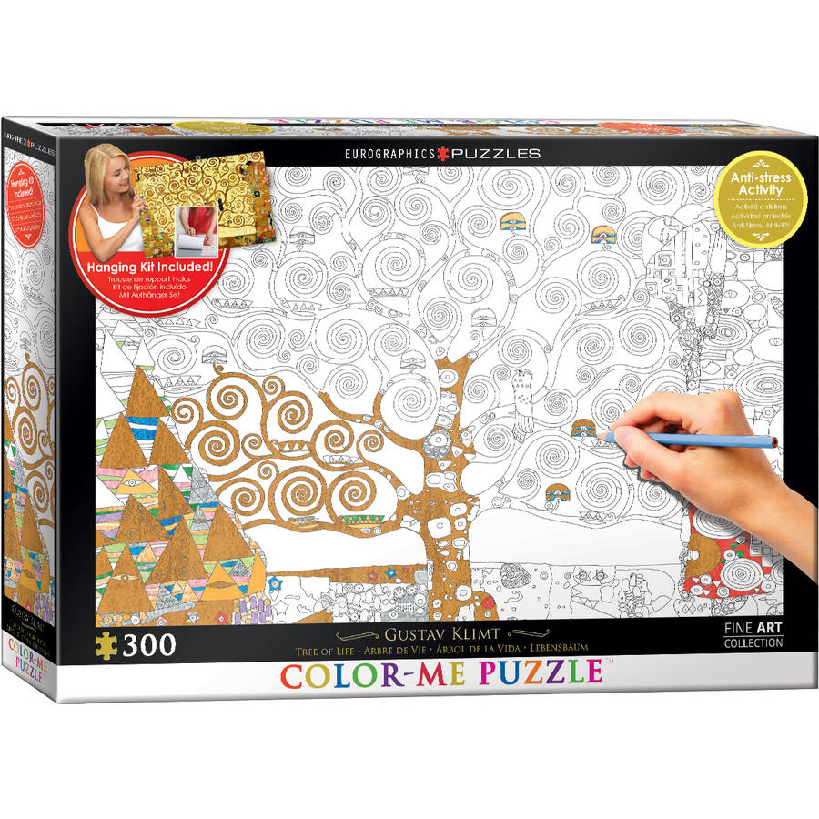 Tree of Life by Gustav Klimt 300-Piece Color-Me Puzzle by EuroGraphics