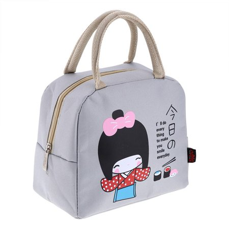 Yosoo Kids Girls Adults Insulated Lunch Bag Work Travel School Picnic Food Storage Container Work Lunch Bag Picnic Lunch - Schoolgirl Adult
