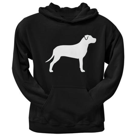 Pit Bull Terrier Silhouette Black Adult Hoodie
