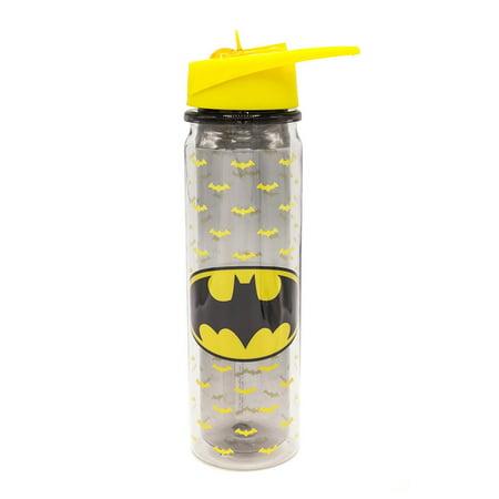 Batman Logo 550ml Double Walled Tritan Water Bottle DC Comics Ben Affleck (Ben Affleck Best Batman)