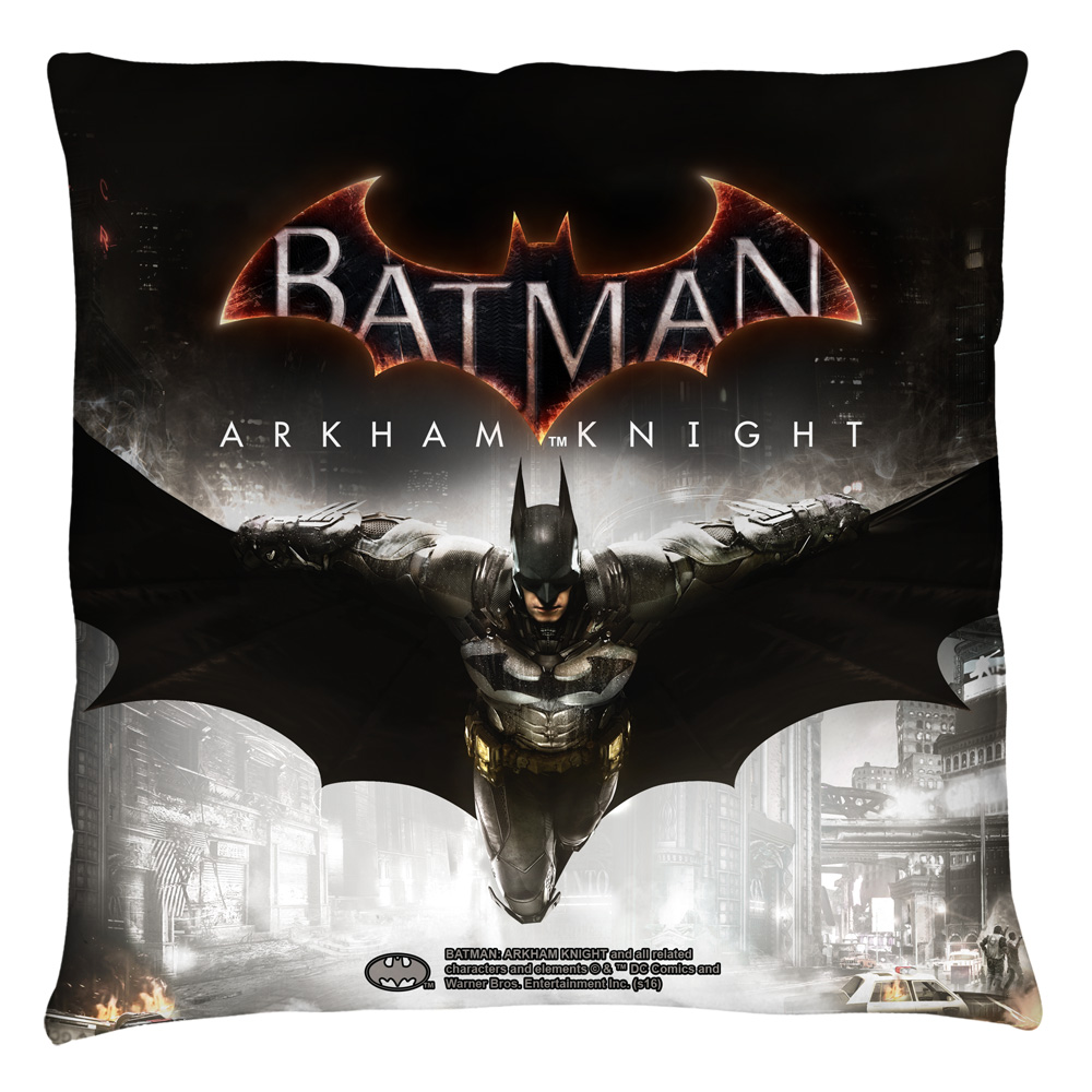 Batman Arkham Knight Arkham Knight Poster Throw Pillow White 14X14