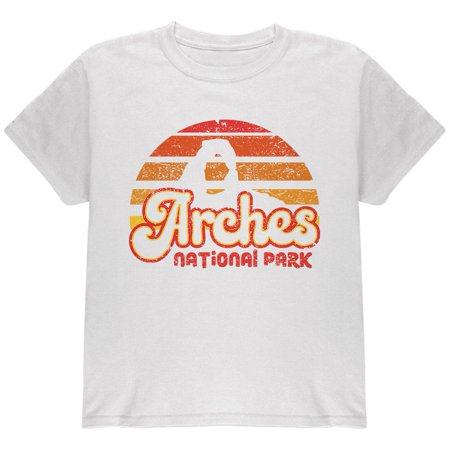 National Park Retro 70s Sunset Arches Youth T Shirt](70s Items)