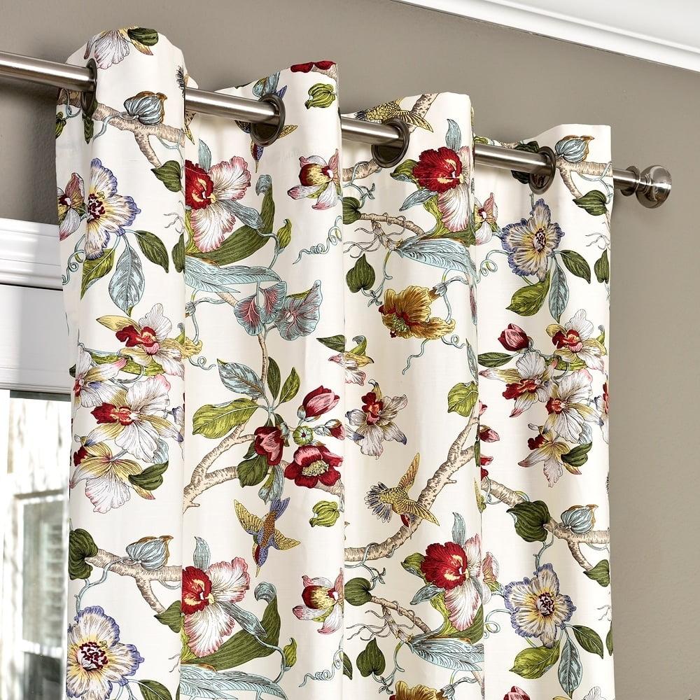 lambrequin ella cotton curtain panel walmart com