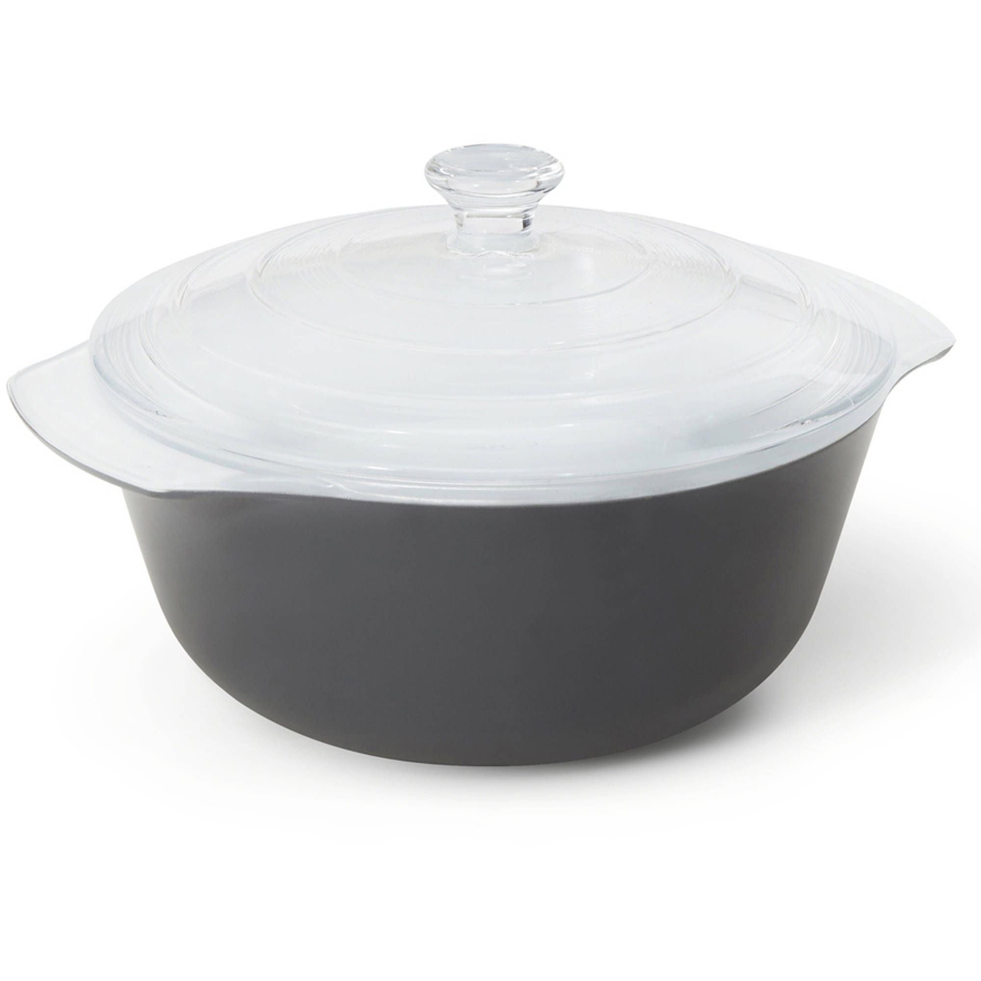 Creo SmartGlass Brooklyn Covered Casserole Dish, Dark Gray by Generic