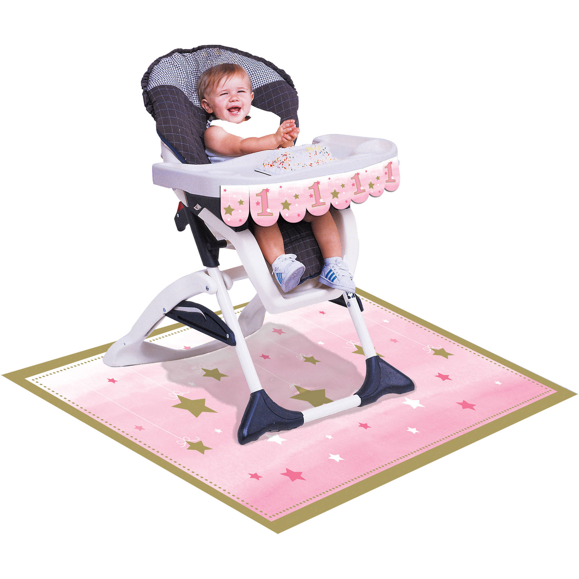 Little Star Girl High Chair Kit, Each by CREATIVE CONVERTING