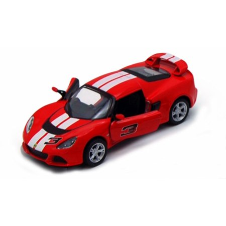 2012 Lotus Exige S Hard Top #3, Red with White Stripes - Kinsmart 5361DF - 1/32 Scale Diecast Model Replica (Brand New, but NOT IN (2012 Stripe)