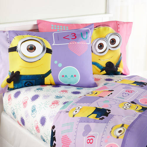 Minions Girl 'Way 2 Cute' Bedding Sheet Set