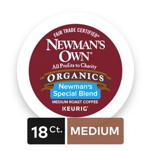 Newmans Own Organics Special Blend Keurig Single-Serve K-Cup Pods, Medium Roast Coffee, 18 Count