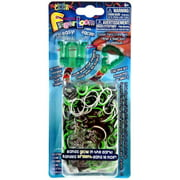 Rainbow Loom Finger Loom Rubber Band Crafting Kit [Green]
