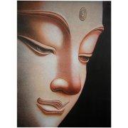 "Oriental Furniture Buddha Canvas Wall Art, 31.5""H x23.5""W"