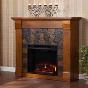 Underwood Electric Fireplace-Antique Oak