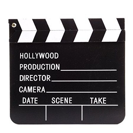 Hollywood Clapper Board, Measures 7 x 8 inches By Unknown