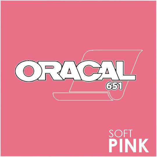 ORACAL 651 Vinyl Roll of Glossy Soft Pink - Includes Free Multi-Purpose Squeegee - Choose Your Size