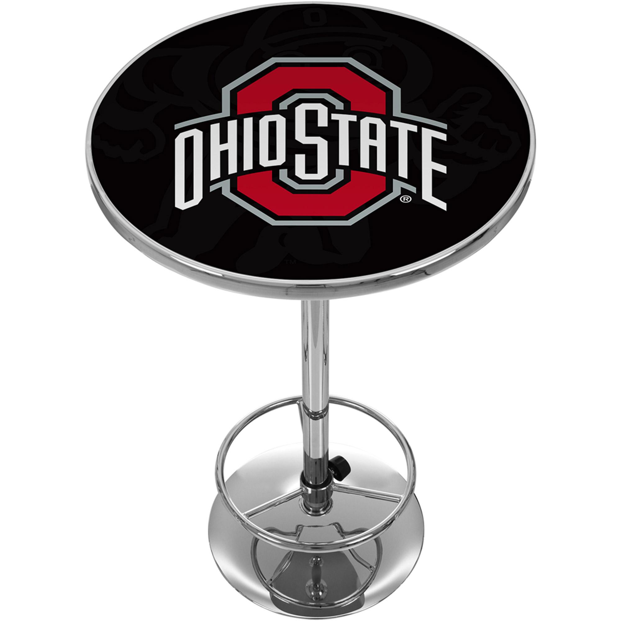 Ohio State Shadow Brutus Chrome Pub Table