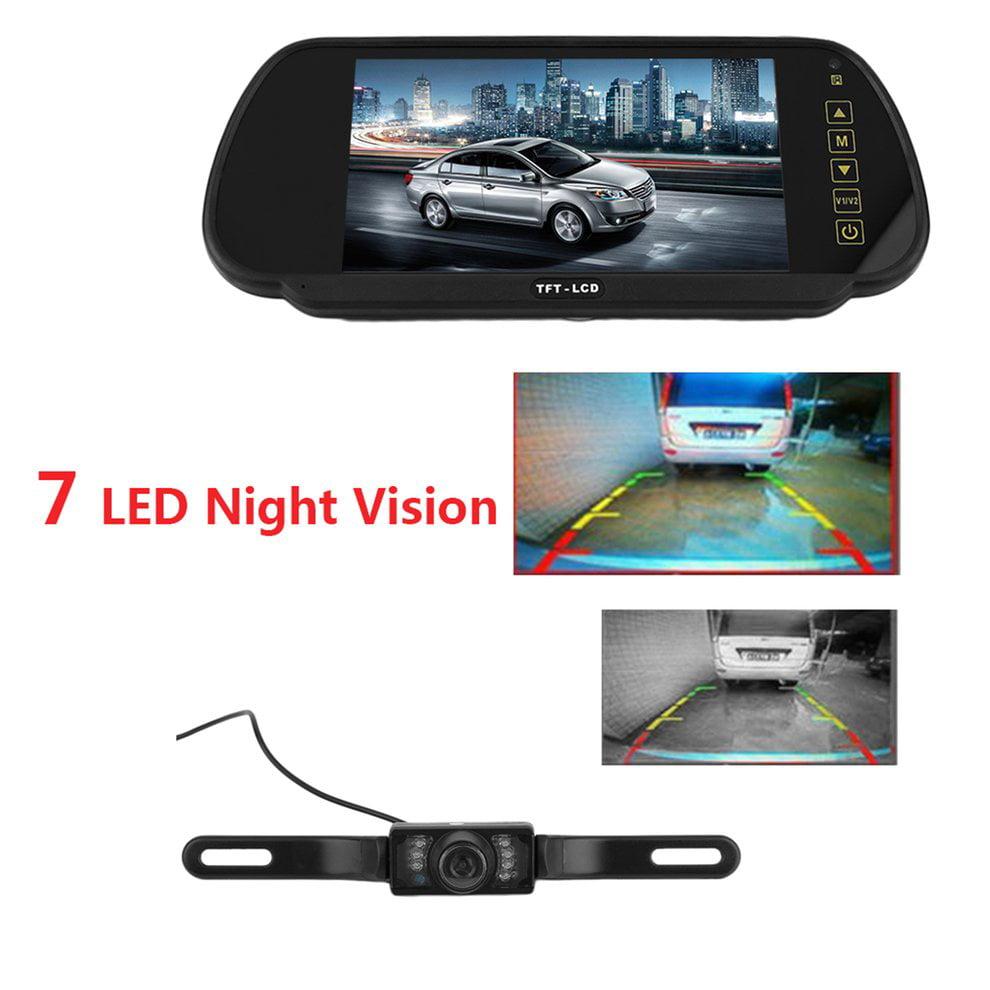 7inch LCD Car Rear View Backup Monitor And Wireless IR Night Vision Camera