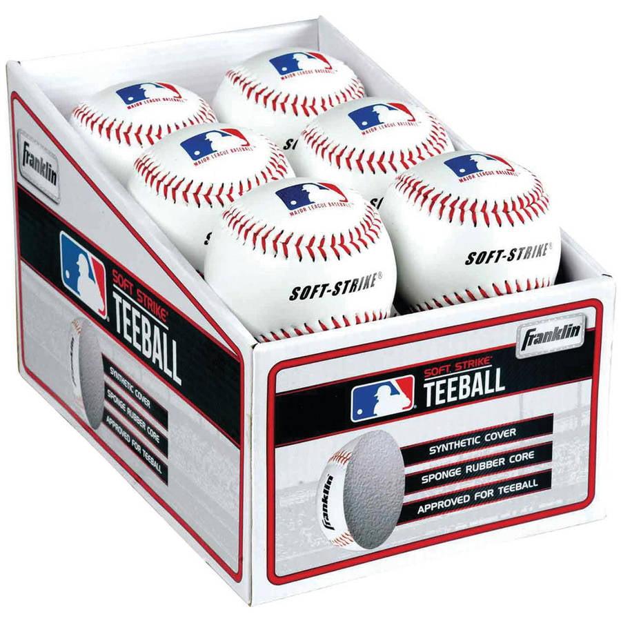 Franklin Sports Soft Strike teeballs 6/Pack