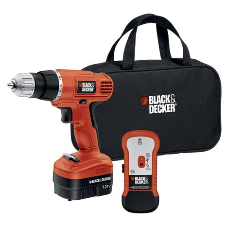 Black and Decker Power Tools GCo.12SFB 12-Volt Cordless Drill with Stud Sensor and St