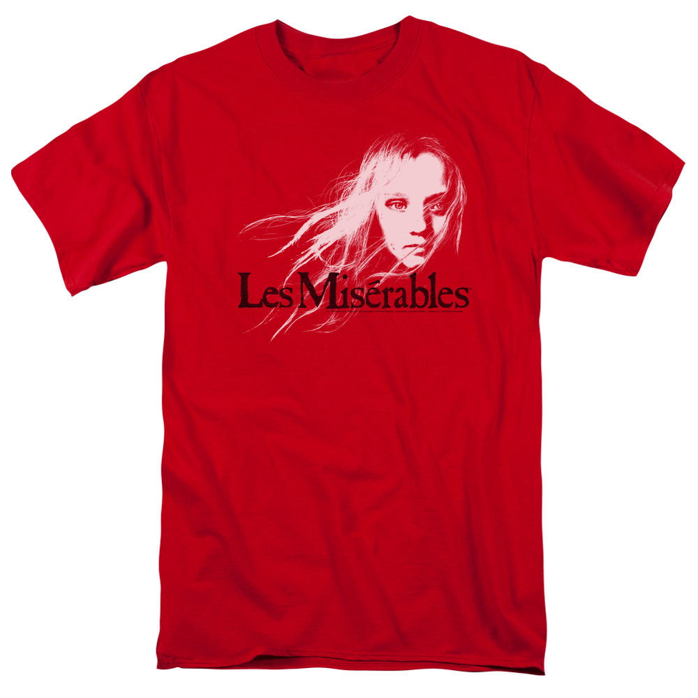 Les Miserables/Textured Logo S/S Adult 18/1   Red     Uni958