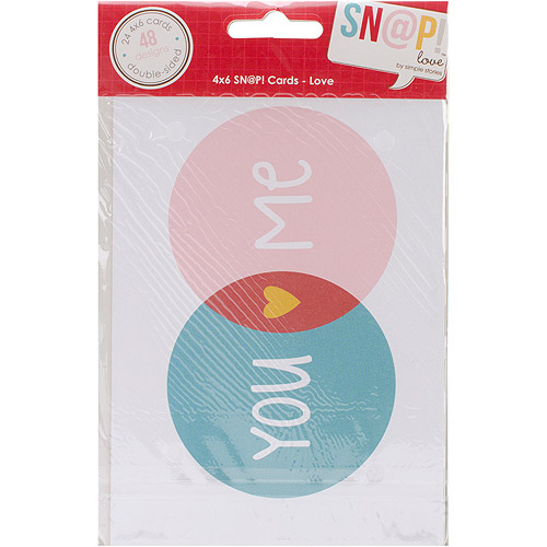 Love Sn@p! Double-Sided Card Pack 4 Inch X 6 Inch 24/Pkg-