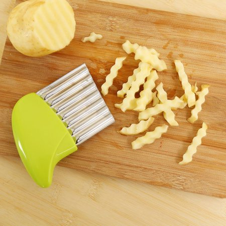 Crinkle Cut Potato Chip Cutter With Wavy Blade French Fry Cutter
