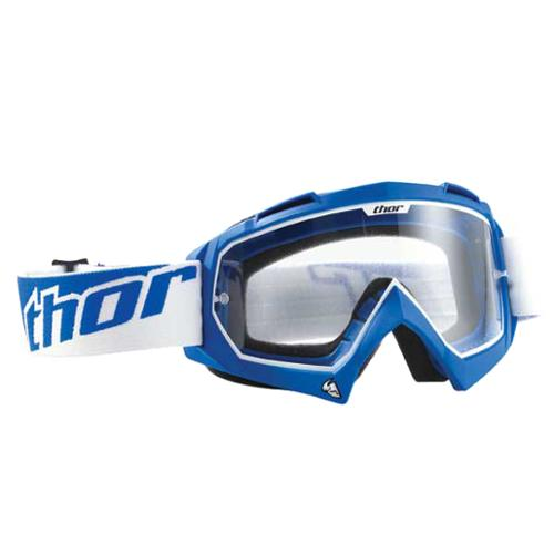 Thor Enemy MX Motocross Goggles Blue Adult