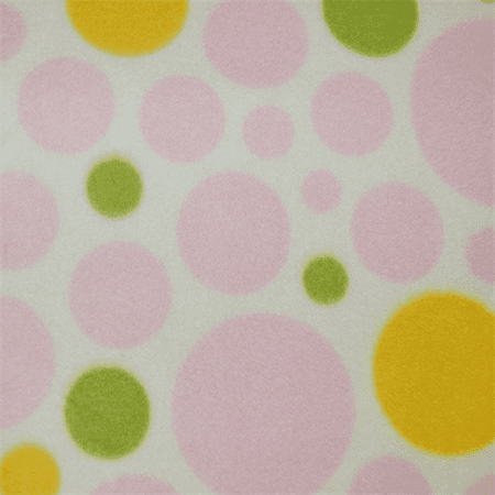 - White/Pink Dream Dot Fleece, Fabric By the Yard