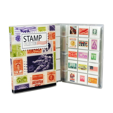 Mini Stamp Collection Kit/Album, Holds 150-300 Stamps - Organized Stamp Collecting First Day Covers