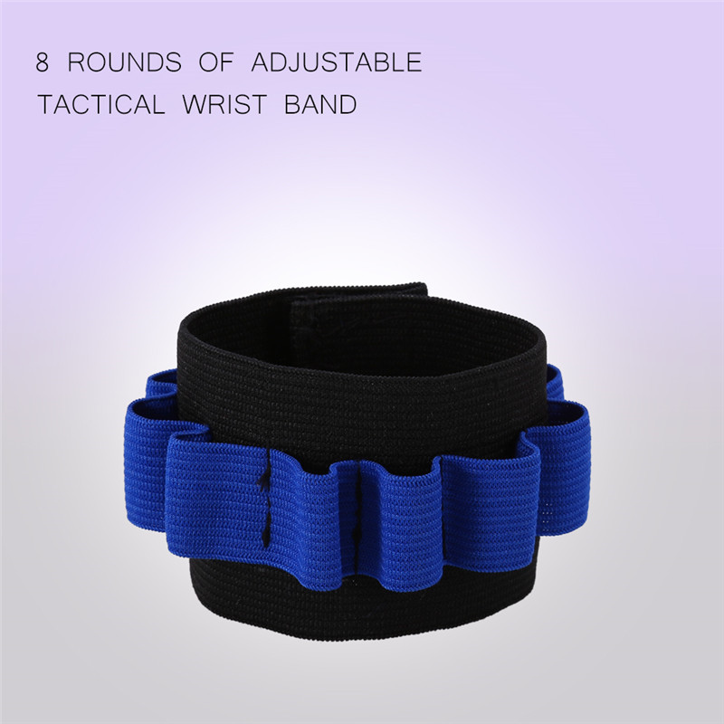 Adjustable Tactical Wrist Strap Storage 8 Bullets Wristband- Bullet Storage Belt Bullet Darts Shoulder Strap for... by Eb Network Technology
