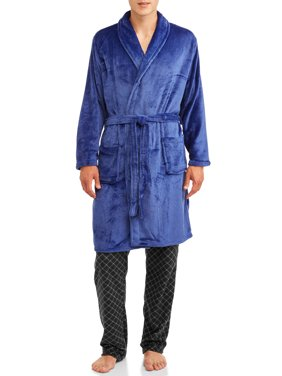 Blue Star Clothing Company Men's Knee-Length Soft Quilted Plush Body Bath Robe