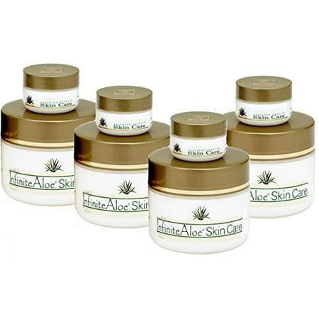 Infinite Aloe Skin Care Cream Original Scent - 4 Jars 8 oz. By Infinite Aloe