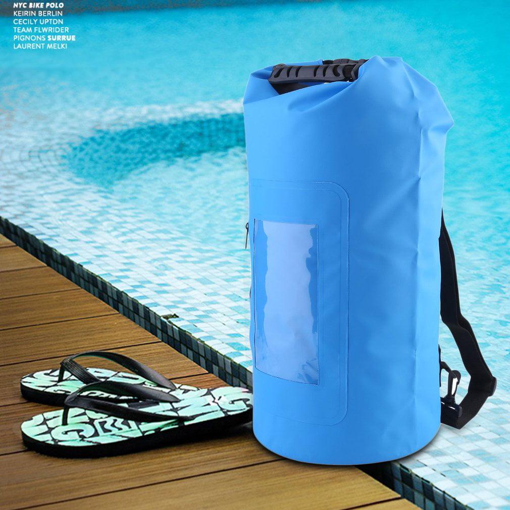 Waterproof Roll Top Duffel Bag With Grab Handle Dry Gear Bag Survival Sack Kit rowing by Lenow