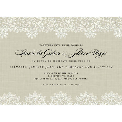 Laced with Romance Standard Wedding Invitation