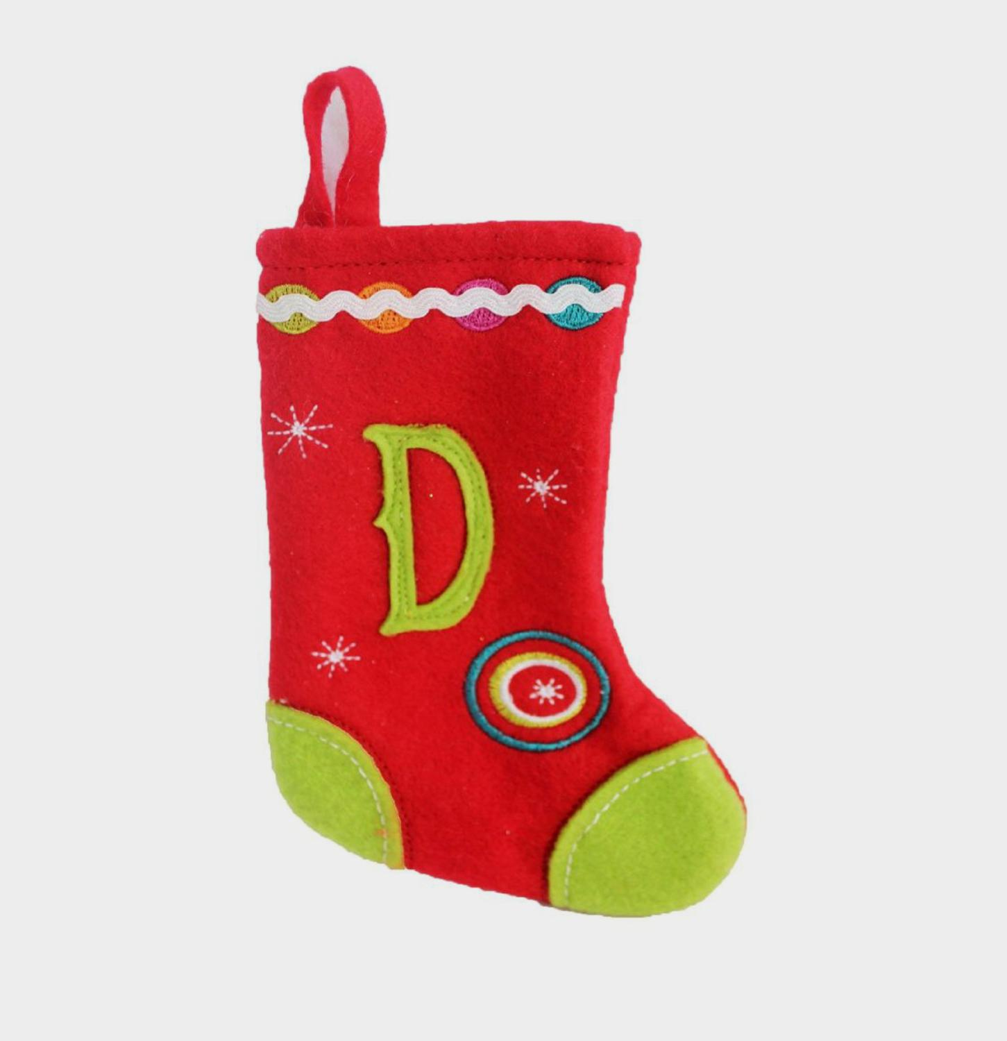 Letter Christmas Stockings.20 Traditional Red With White Cuff Plush Hanging Christmas Stocking