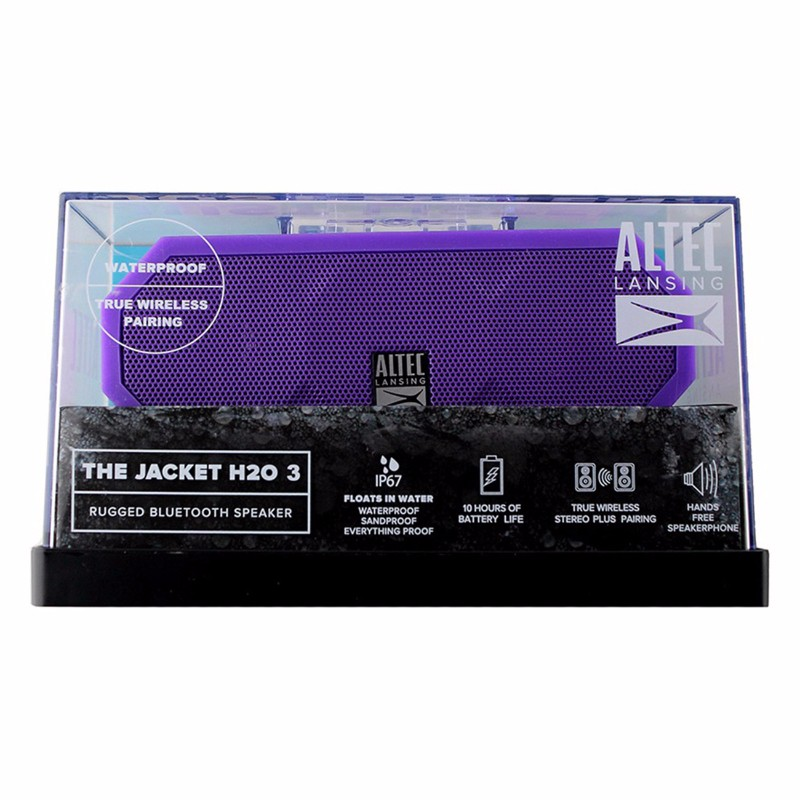 Altec Lansing Jacket H2O Version 3 Waterproof Bluetooth Speaker Purple by Altec Lancing