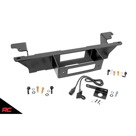 Rough Country Hidden Bumper Winch Mounting Kit compatible w 1999-2006 Chevy Silverado GMC Sierra 1500 11002 (2018 Silverado Bumper Winch Mount)