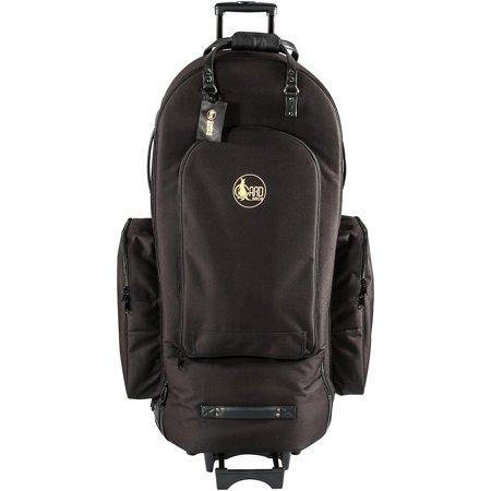 Gard 4/4 Medium Frame Tuba Wheelie Bag 63-WBFSK Black Synthetic w/ Leather Trim Burton Wheelie Gig Bag