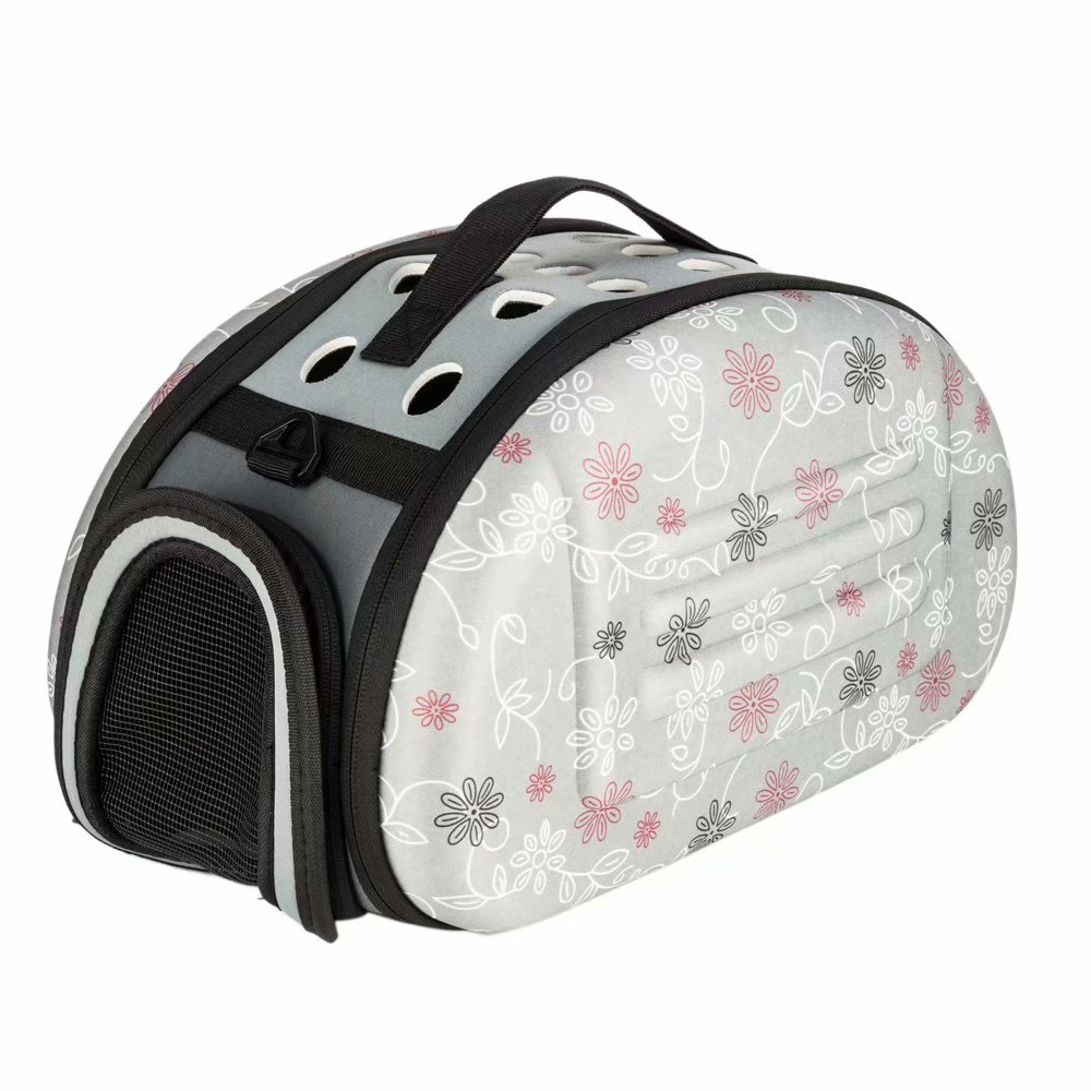 Pet Carrier for Cats and Dogs, Made from Soft Suitcase Material , Perfort for Pet Kennel and Dog Carrier Purse, Gray