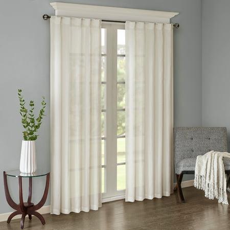 home essence avery solid crushed window panel pair walmart com