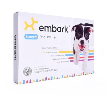 Embark Dog DNA Test Kit | Breed & Genetic Ancestry Discovery | Trait & Health Detection | at-Home Cheek Swab 1