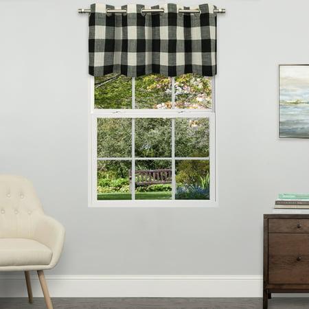 - Courtyard Grommet Plaid Window Curtain Valance 18