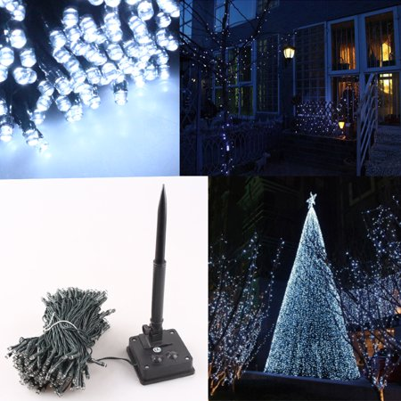 gzyf 12m 100 led solar powered string light cool white xmas christmas wedding party solar