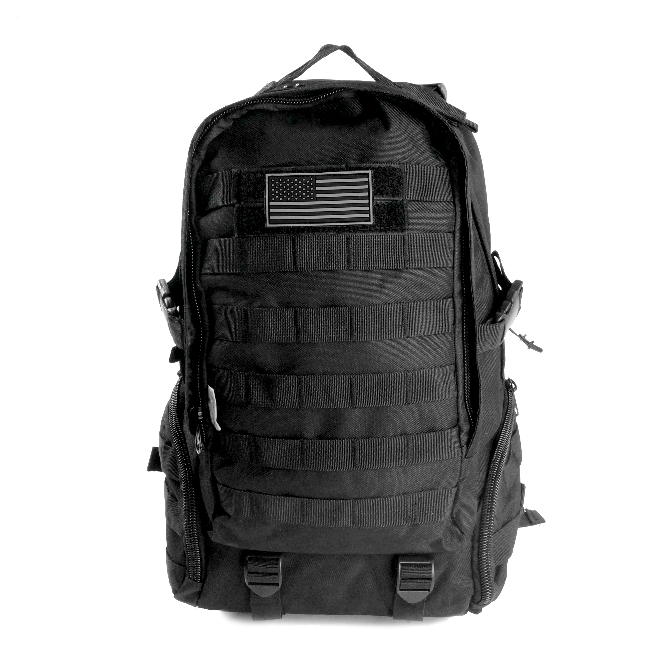 Backpack with Flag Patch Expandable Travel Military Hiking