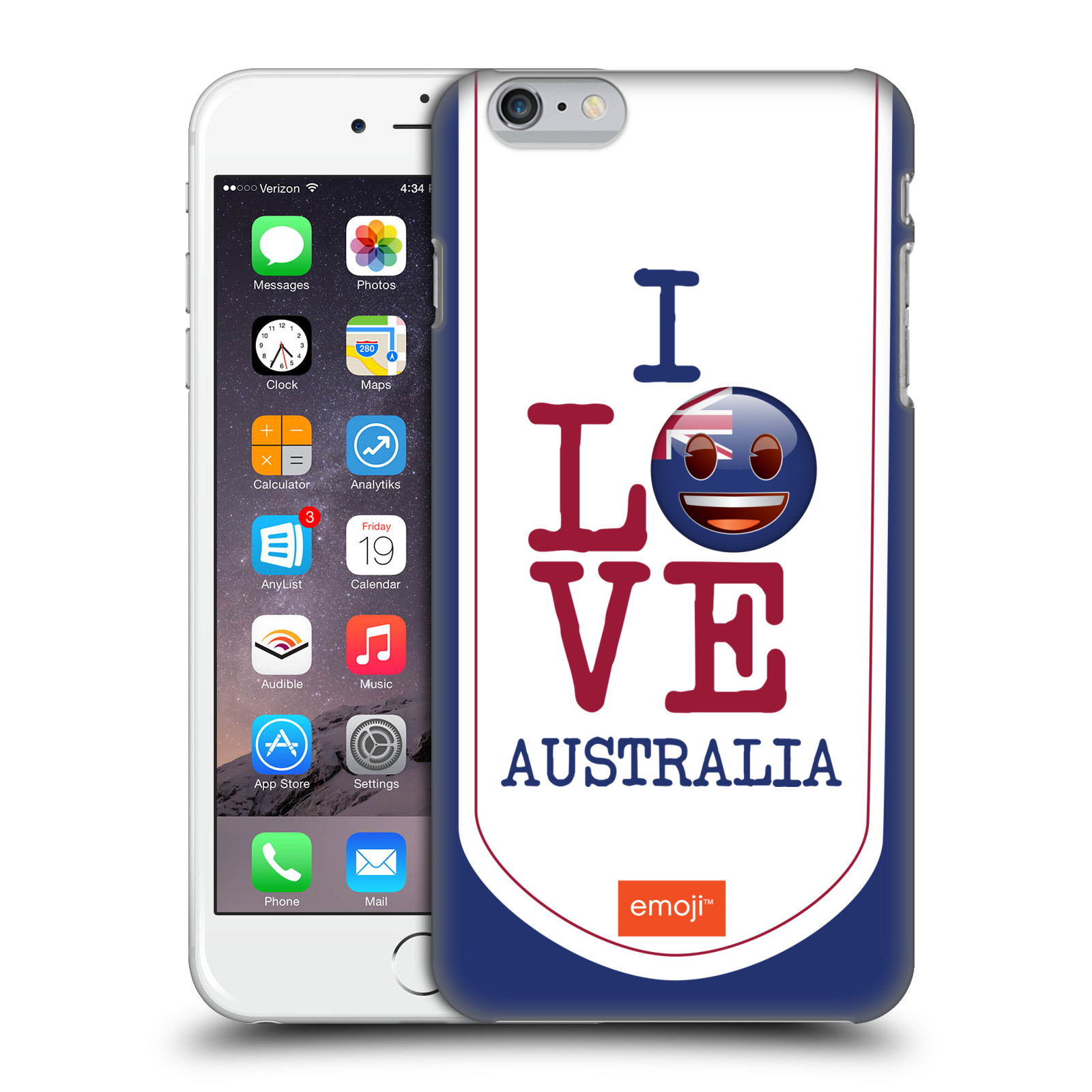OFFICIAL EMOJI I LOVE MY COUNTRY HARD BACK CASE FOR APPLE IPHONE PHONES