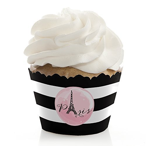 Paris, Ooh La La - Paris Themed Baby Shower or Birthday Party Cupcake Wrappers - Set of 12