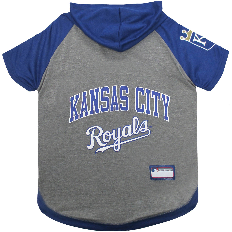 Pets First MLB Kansas City Royals Hoodie Tee Shirt by Pets First