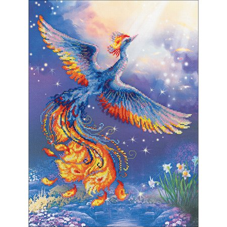 """Riolis Stamped Cross Stitch Kit 11.75""""X15.75""""-Bird Of Happiness (14 Count) - image 1 de 1"""
