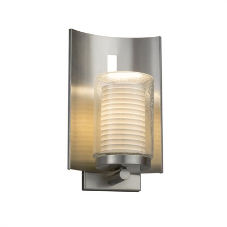 Justice Designs Limoges Embark 1-LT Outdoor Wall Sconce - Brushed Nickel -