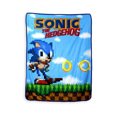 Sonic The Hedgehog, Polar Fleece, Soft Plush Travel Blanket/Throw, 45 X 60 Inch
