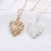 Filigree Style Heart Locket Necklace, Multiple Finishes