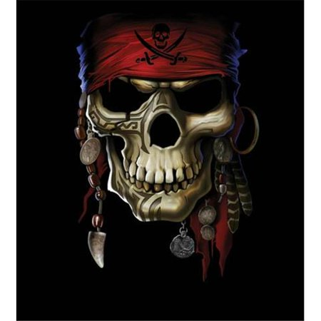 Hot Stuff 1976-16x20-SD Skull Pirate Poster - Skull Staff